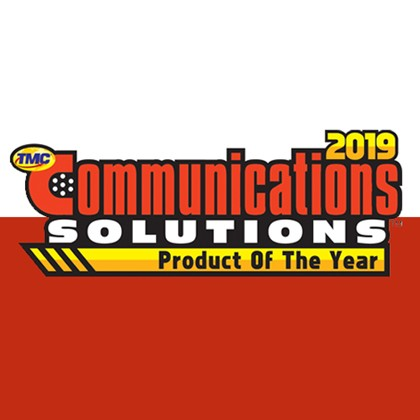 "2019 – ""Product of the Year"" Award from Communications Solutions"
